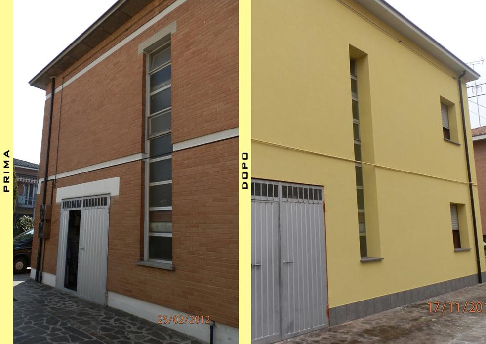 Prima e dopo (prospetto laterale)