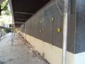 Lavori in corso con polistirene ad alta densità in basso e sopra graffite