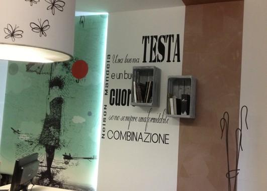 Decori a parete nel nostro showroom