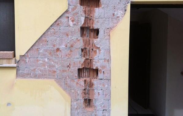 Ripristino di fessure post-sisma