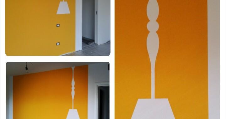 Decorazione lampada a parete
